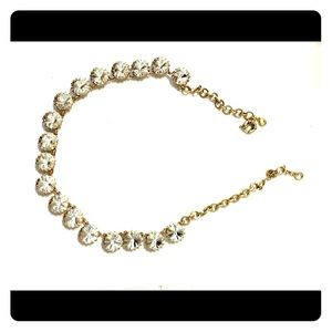 J. Crew brass-plated crystal necklace!